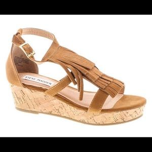 Steve Madden Jfringly Girls Wedge Sandals sz 4
